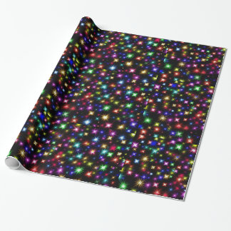 Happy New Year colorful fireworks gift wrap
