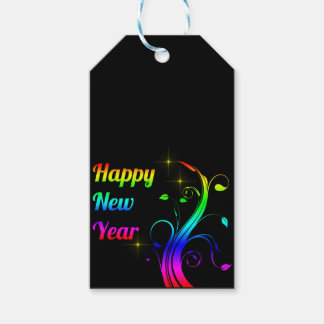 Happy New Year colorful Gift Tags