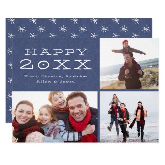 Happy New Year Custom Family Photo Template