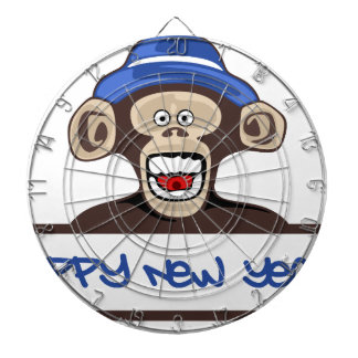happy new year dartboard
