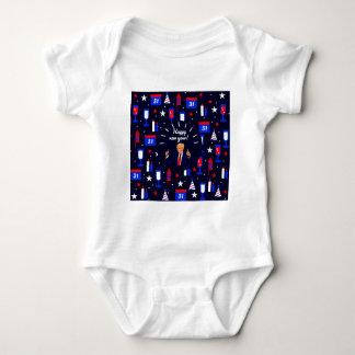 happy new year donald trump baby bodysuit