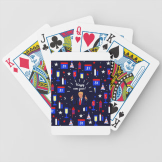 happy new year donald trump bicycle playing cards