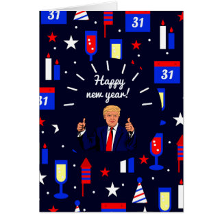happy new year donald trump card