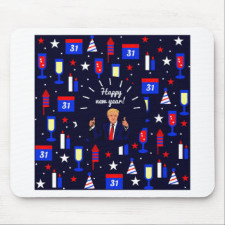 happy new year donald trump mouse pad