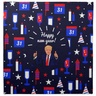 happy new year donald trump napkin