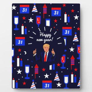 happy new year donald trump plaque