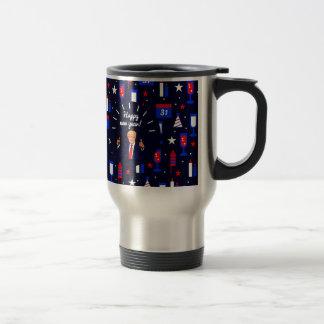 happy new year donald trump travel mug