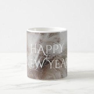Happy New Year Down Comforter Feathers Photography Coffee Mug
