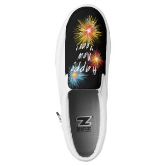 Happy New Year Firework Slip-On Sneakers