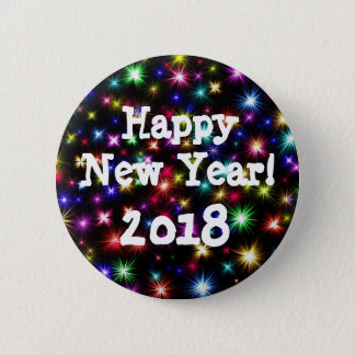 Happy New Year Fireworks Button