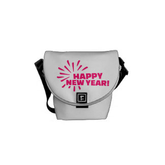 Happy New Year Fireworks Messenger Bag