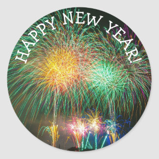 Happy New Year Fireworks Stickers