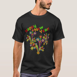Happy New Year Fireworks Tee