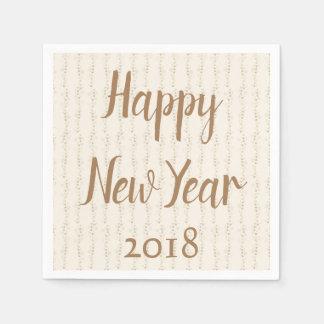 Happy New Year Gala Paper Napkin