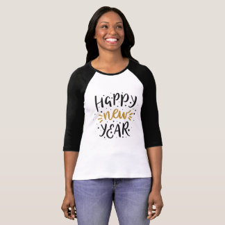 Happy New Year gold celebration cute holiday top