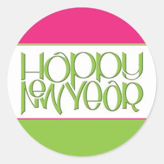 Happy New Year green Sticker