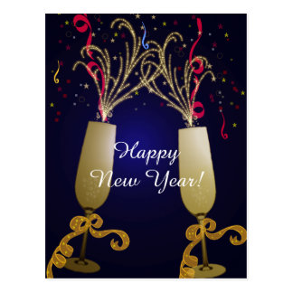 Happy New Year Greeting Postcard
