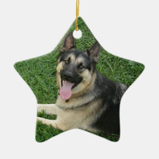Happy New Year! GSD Ceramic Ornament