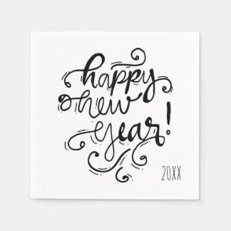 Happy New Year Holiday Napkin