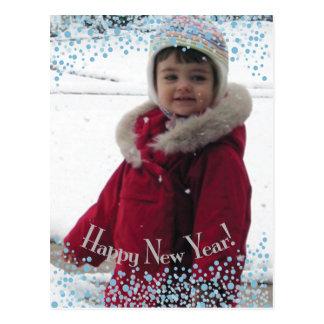 Happy New Year Holiday Photo Postcard