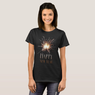 Happy New Year Holiday sparkler firework T-shirt