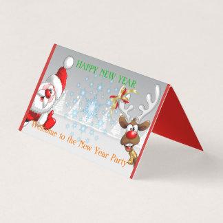 Happy New Year Horizontal Tent Fold Folded Card