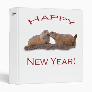 Happy New Year Kiss Vinyl Binder