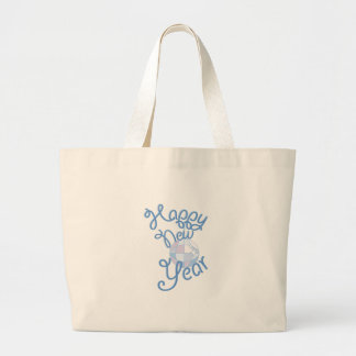 Happy New Year Large Tote Bag
