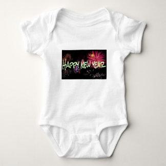 Happy new year letters baby bodysuit
