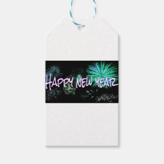 Happy New Year letters Gift Tags