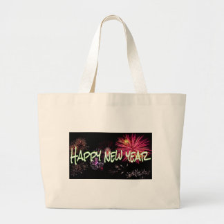 Happy new year letters large tote bag