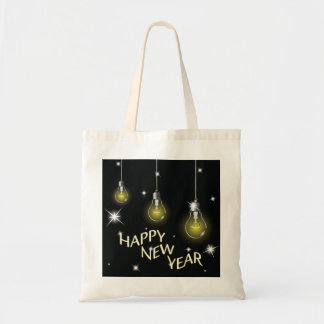 Happy New Year Lightbulbs Tote Bag