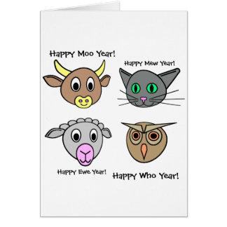 Happy New Year, Moo Year! Card