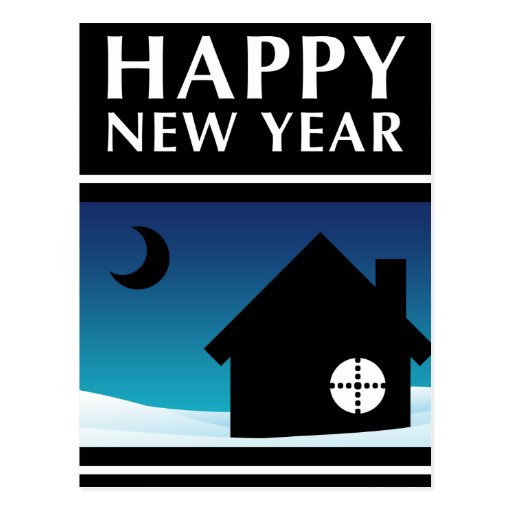happy new year new address announcement postcards