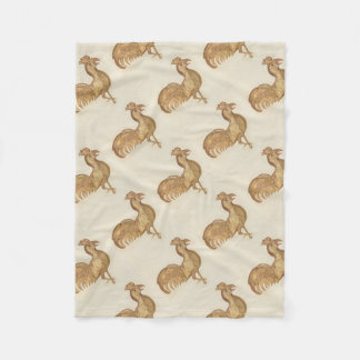 Happy New Year  of The Rooster 2017 Vintage Gold Fleece Blanket