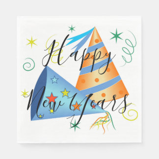 Happy New Year Paper Napkins