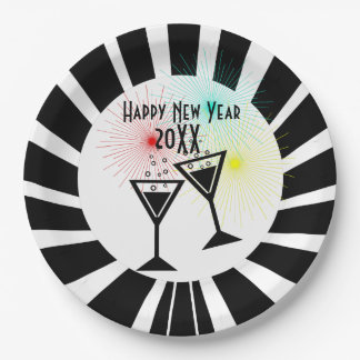 Happy New Year Paper Plate
