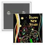 Happy New Year Party Pin