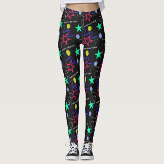 Happy New Year Pattern Leggings