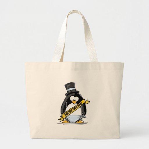 Happy New Year Penguin Bag