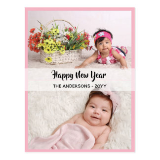 Happy New Year - PHOTO COLLAGE - Personalized 15 Postcard