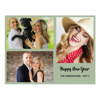 Happy New Year - PHOTO COLLAGE - Personalized 2 Postcard