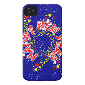 Happy New Year Pin Wheel iPhone 4 Case-Mate Case