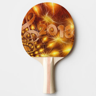 happy new year ping pong paddle