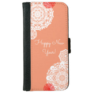 Happy New Year! (pink) iPhone 6 Wallet Case