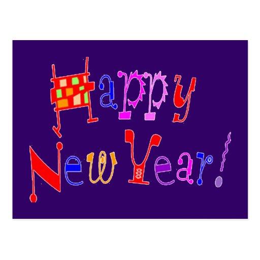 Happy New Year - Postcard