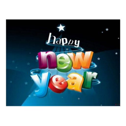 Happy New Year - Post Card