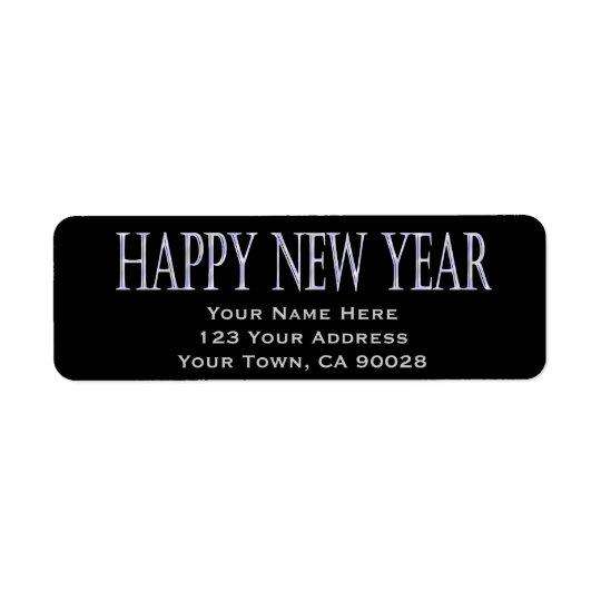 happy new year return address label
