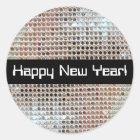 Happy New Year Sequin Sticker
