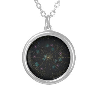 Happy New Year! Silver Plated Necklace